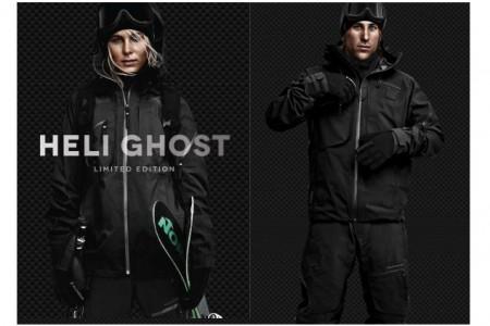 HELI GHOST – celočerná limitovaná edice lyžařského oblečení