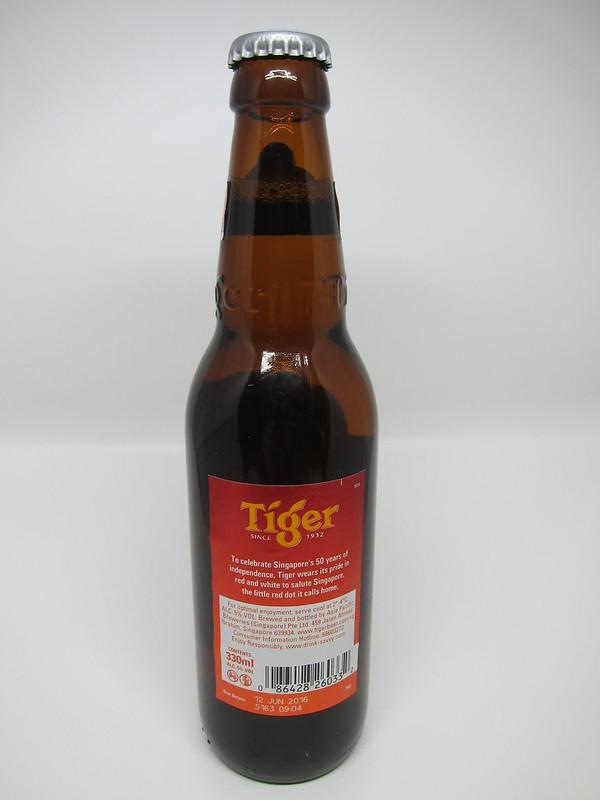Tiger Beer Limited Editon SG50 Bottle - Back