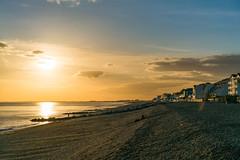 Folkstone beach sunset