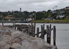 old wharf by city bridge
