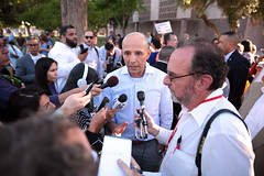 David Garcia with reporters