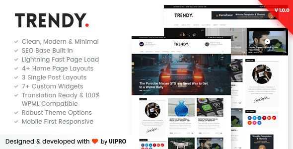 Trendy Pro WordPress Theme free download