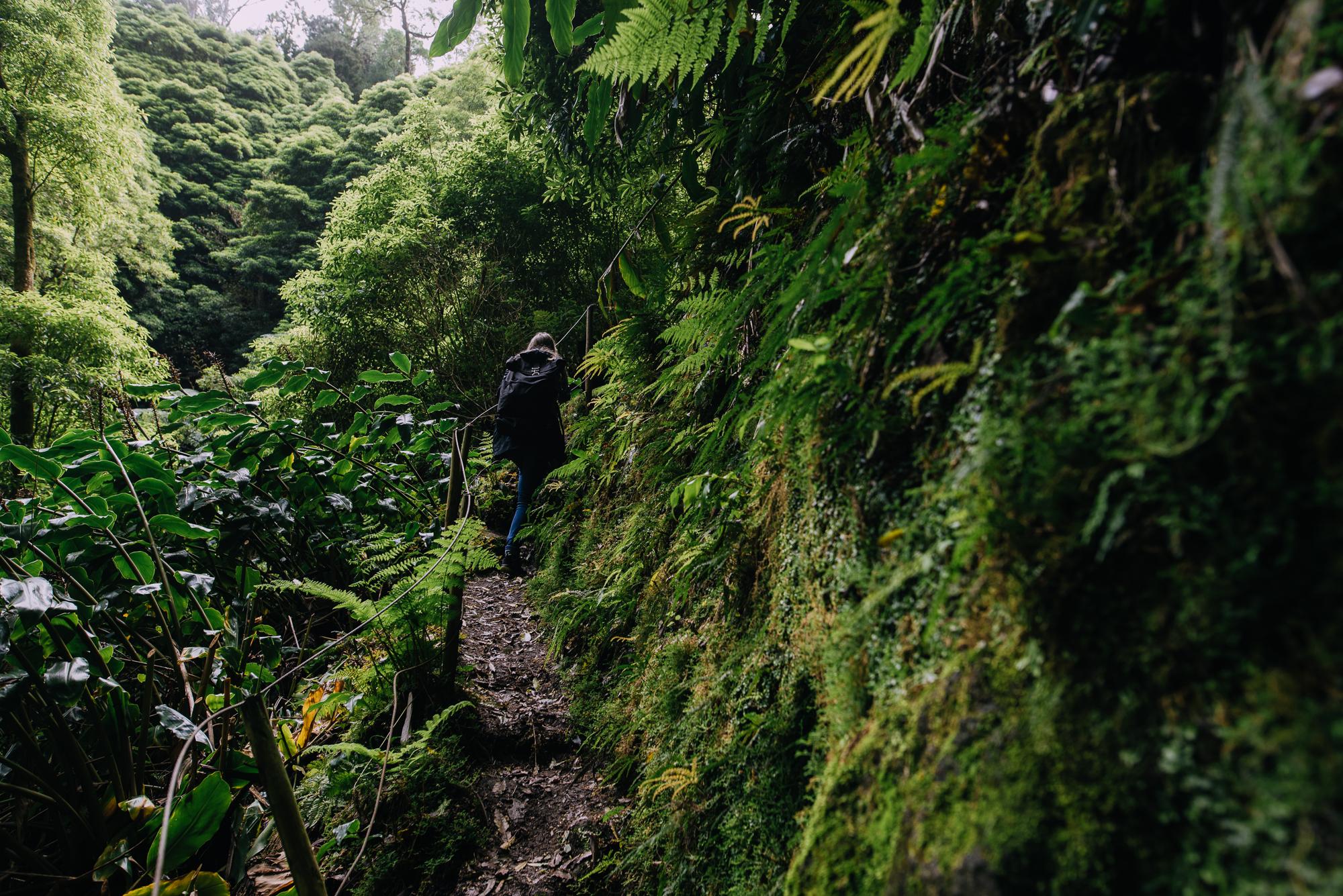 Drótkötél korlát a Faial de Terra útvonalon