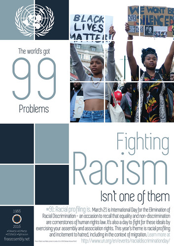The world's got #99problems. Fighting racism isn't one of them