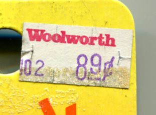 Woolworth's Price Sticker