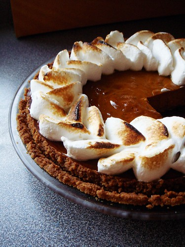 Meringue Kuri Squash Pie with Gingersnap Crust