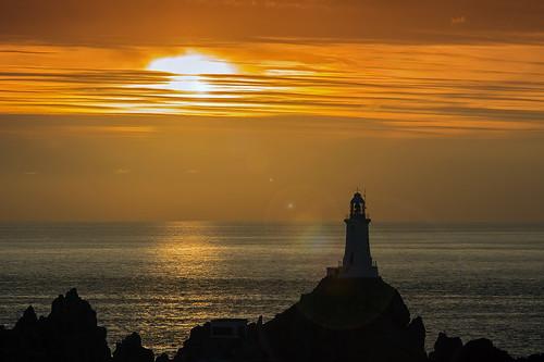 sunset lighthouse jersey bailiwickofjersey sonya580 enricoraimondo lecourbierelighthouse lecourbiere