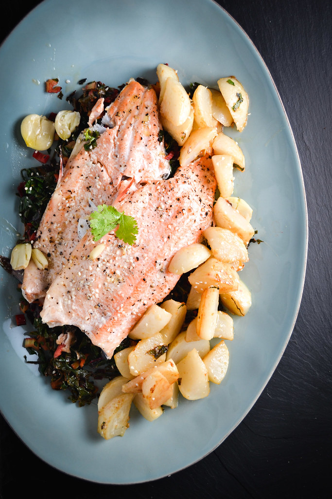 Trout with Braised Turnips and Swiss Chard | Things I Made Today