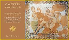 Macedonia Amphipolis archeological museum mosaic depicting Hylas abduc