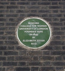 Photo of Elizabeth Jesser Reid green plaque