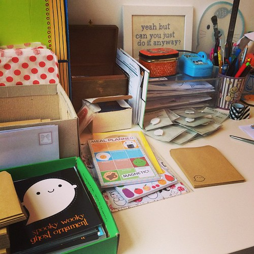@tinyotterpaws asked what I'm doing now - packing orders!