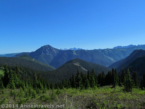 The Canadian view from the Canyon Ridge Trail, Mt. Baker-Snoqualmie National Forest, Washington