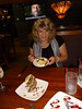 Susan wth her dessert