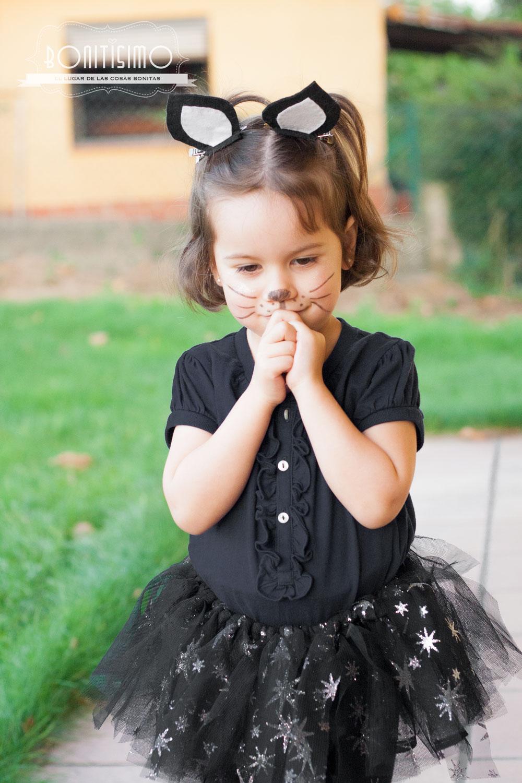 Bonitisimo Disfraz fcil de gato para Halloween