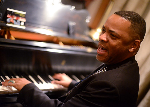 Davell Crawford at WWOZ Party in NYC, Oct 2014