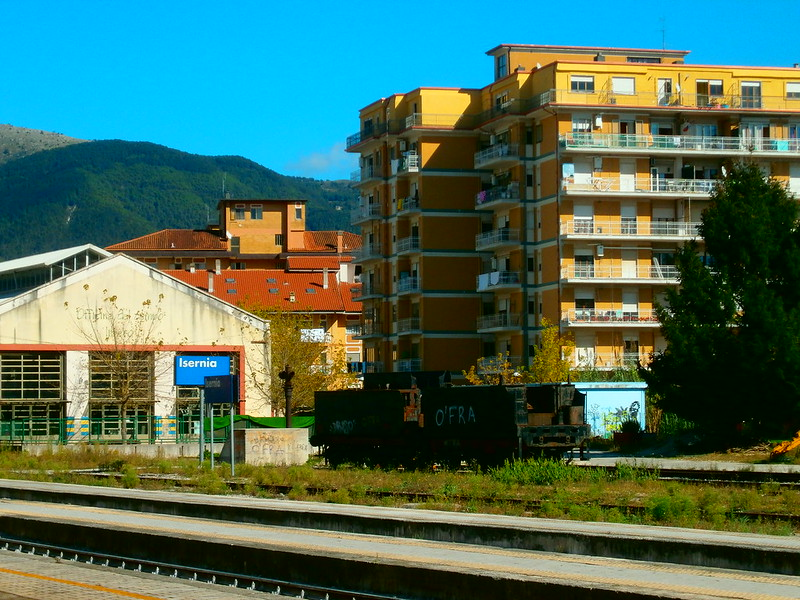 At the train station, Isernia