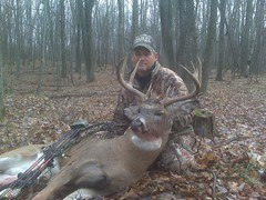 Paul Marion with a dandy bow buck