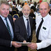 Justice Minister David Ford meets Barclay Bell – Deputy President UFU and PSNI Assistant Chief Constable Alan Todd at the beginning of the one-day conference.