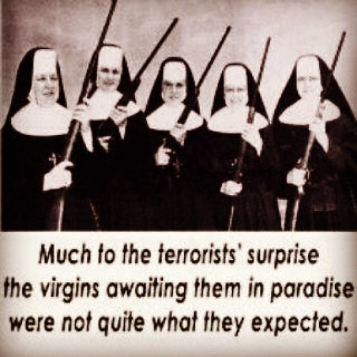 Nuns with guns picture joke