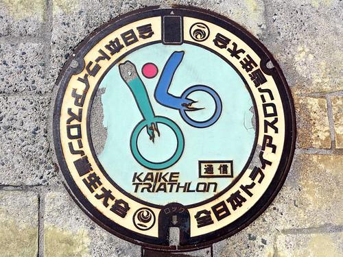 Kaike Yonago Tottori, manhole cover (鳥取県米子市皆生温泉のマンホール)