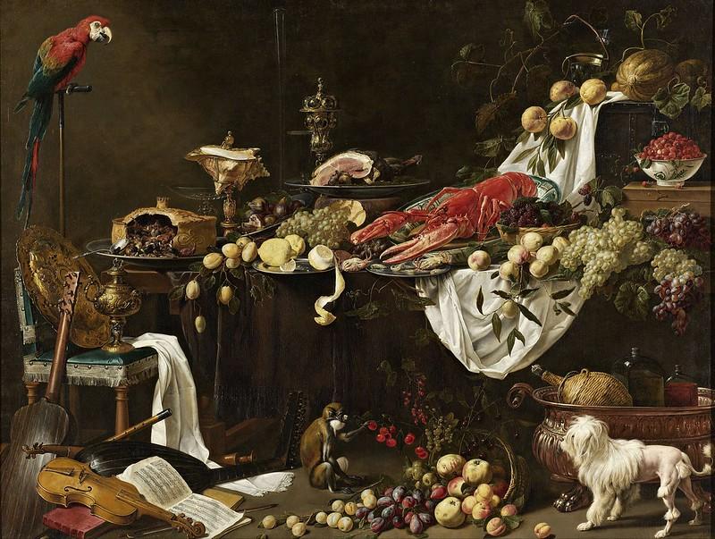 Adriaen van Utrecht - Banquet Still Life (1644)
