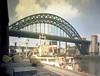 The Tyne Bridge from Gateshead, 1960