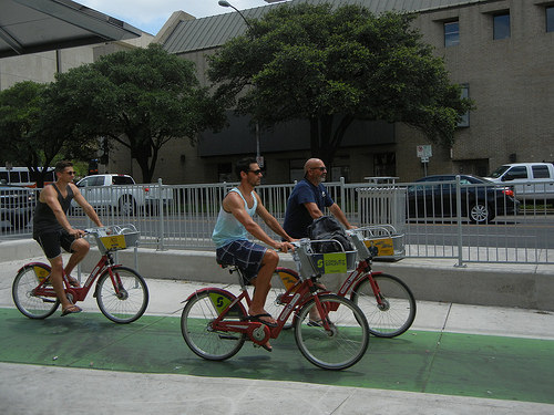 DSCN1460 - Bicyclists in Austin, Texas, June 2014