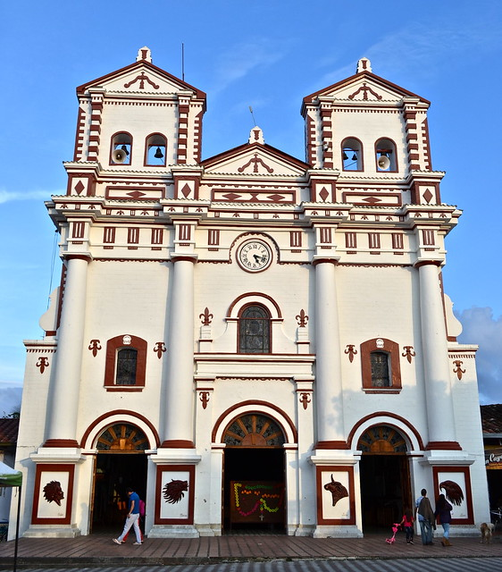 Main Church of guatape colombia