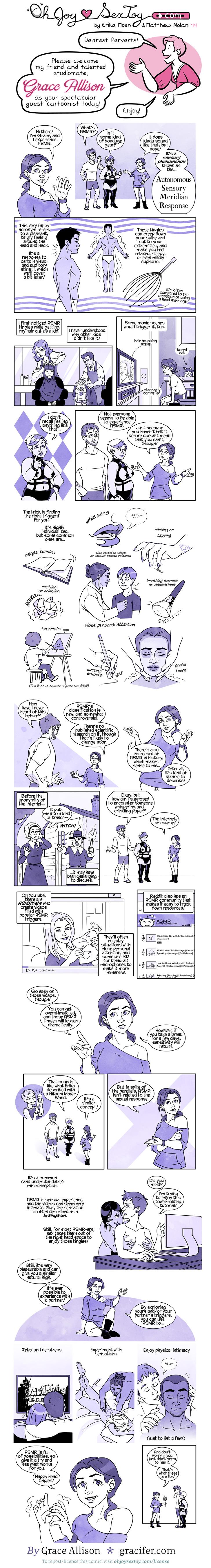 a comic details a sensory condition called ASMR