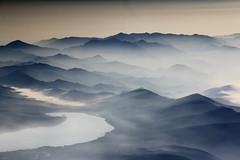 The view at summit of Mt. Fuji / A vista do topo do Monte Fuji - Fujisan / Japan