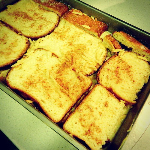 A very fragrant boozy baked French toast is in the fridge soaking in the Bailey's & vanilla we added to it. 😲 #MizzouHomecoming Watch Party in t-minus 9 hours! 🐯