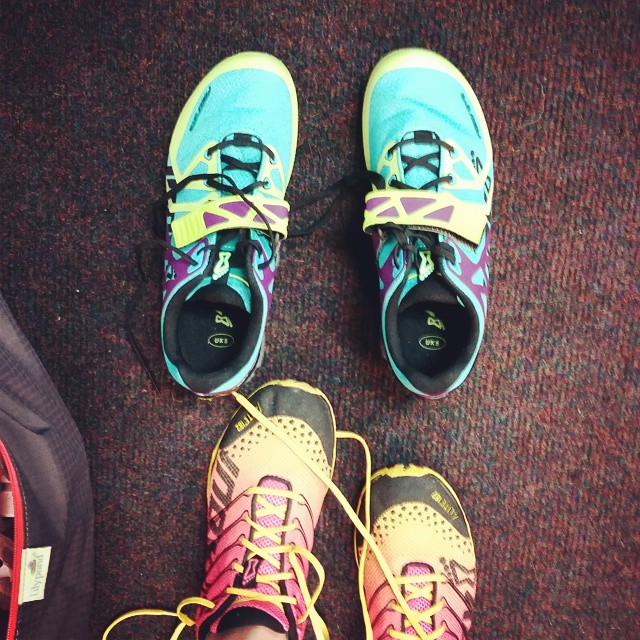 Finally got to use my @inov_8 lifters tonight... #postpartum #crossfit #crossfitfringe