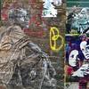 Some old school #swoon with work from @alicepasquini and #mrfarenheit on Blackall street. #Streetart #streetartlondon