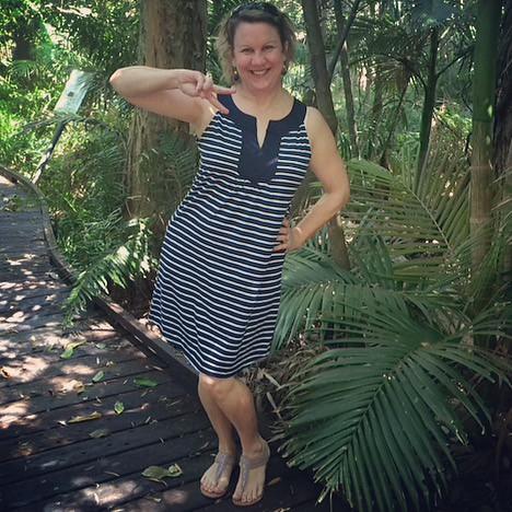 Stripe dress from Suzanne Grae