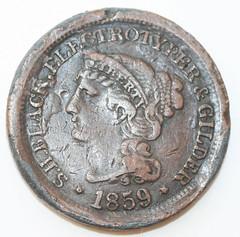 Samuel Black token 1859-obv