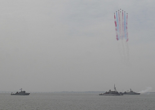 INCHEON, South Korea (NNS) -- Sailors from USS Warrior (MCM 10) joined Republic of Korea navy ships in a naval demonstration and reenactment to pay tribute to Korean War veterans who fought side-by-side during the Incheon landing 64 years ago.