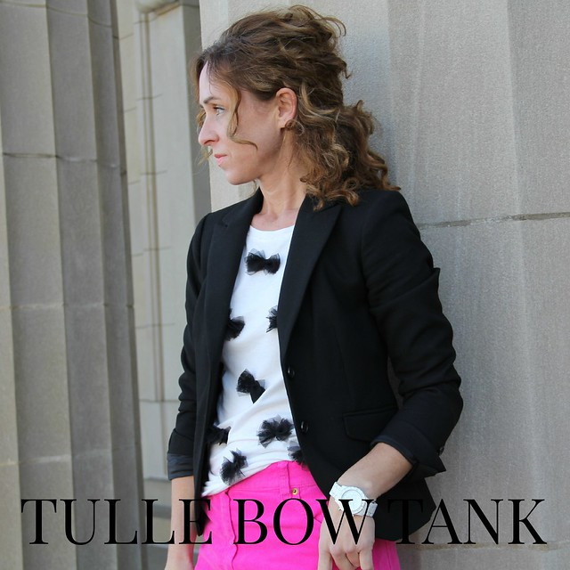 how to make a tulle bow tank tutorial via Kristina J blog