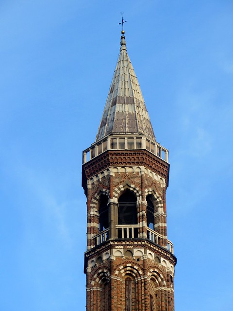 Arabian-Style Tower Detail on Saint Anthony's Basilica