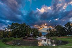 Haupt Pond at Sunset