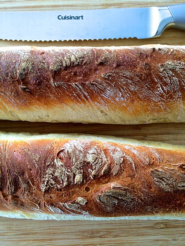 Homemade Crusty Baguettes