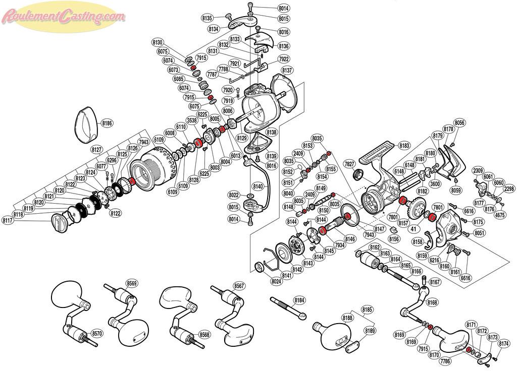 Schéma Shimano Stella 4000FA