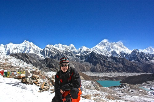 Me, Everest, Lhotse, overlooking Gokyo