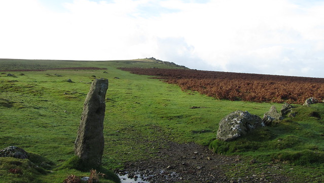 Open moor and Sourton Tors