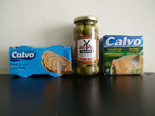 Calvo Tuna Pate and Ybarra Olives