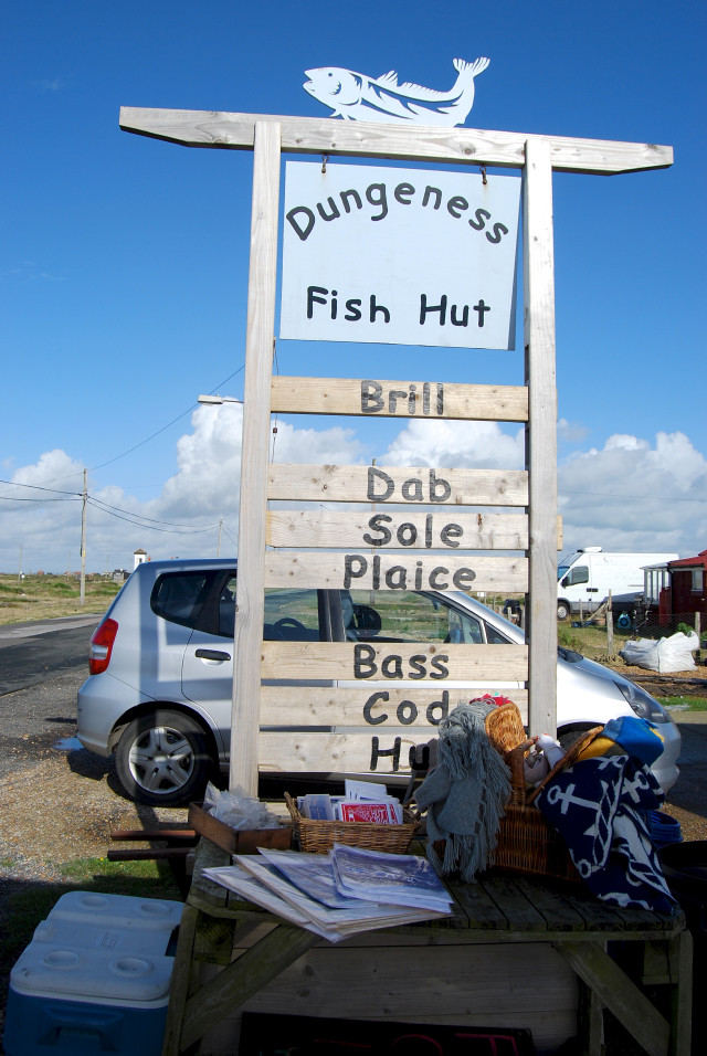 Dungeness Fish Hut Signage