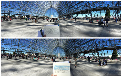 October 2014: Sketching from inside of NASA Hangar One