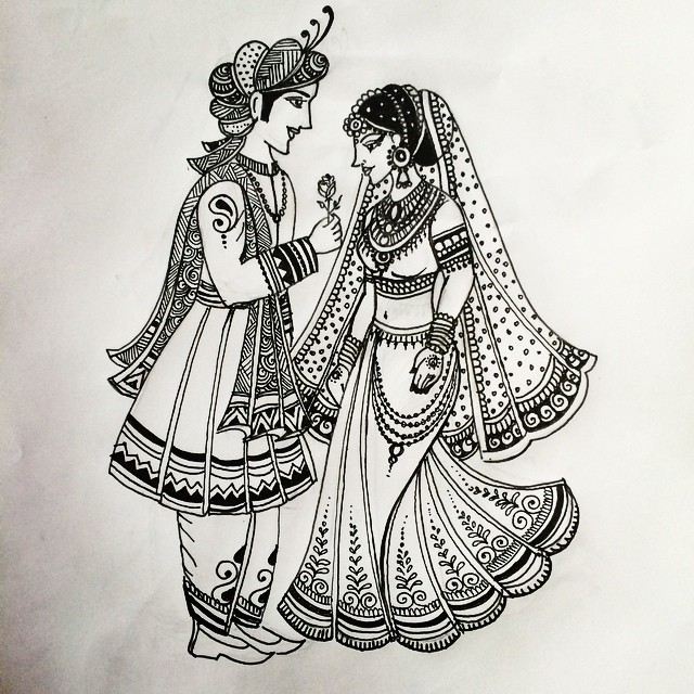 Another Indian Bride and Groom pattern I designed today