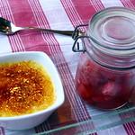 Gewürzte Erdbeeren mit Crème Brûlée