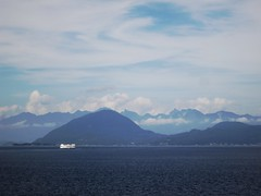 Dramatic clouds along the BC coast