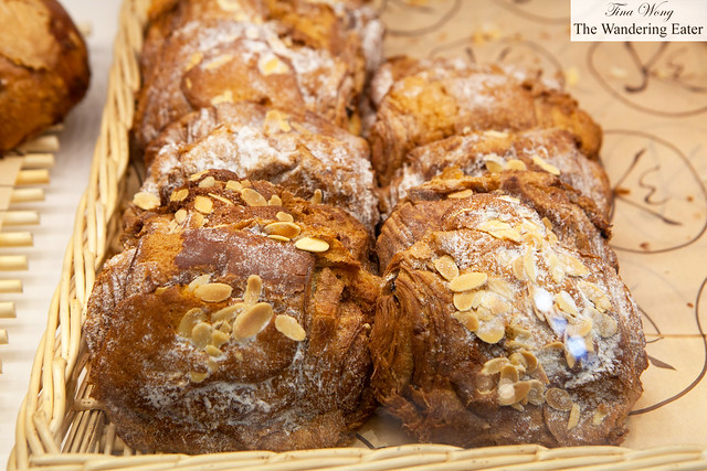 Chocolate almond croissants